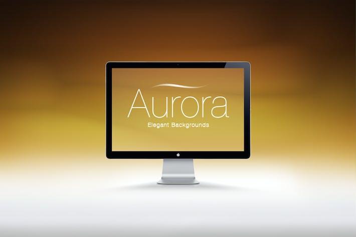Aurora Helligkeit minimale Hintergründe