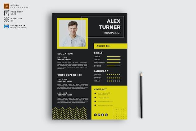 Elegant CV Resume Vol. 03 - product preview 0