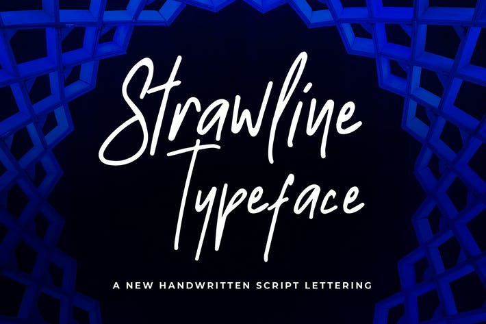 Thumbnail for Strawline Typeface