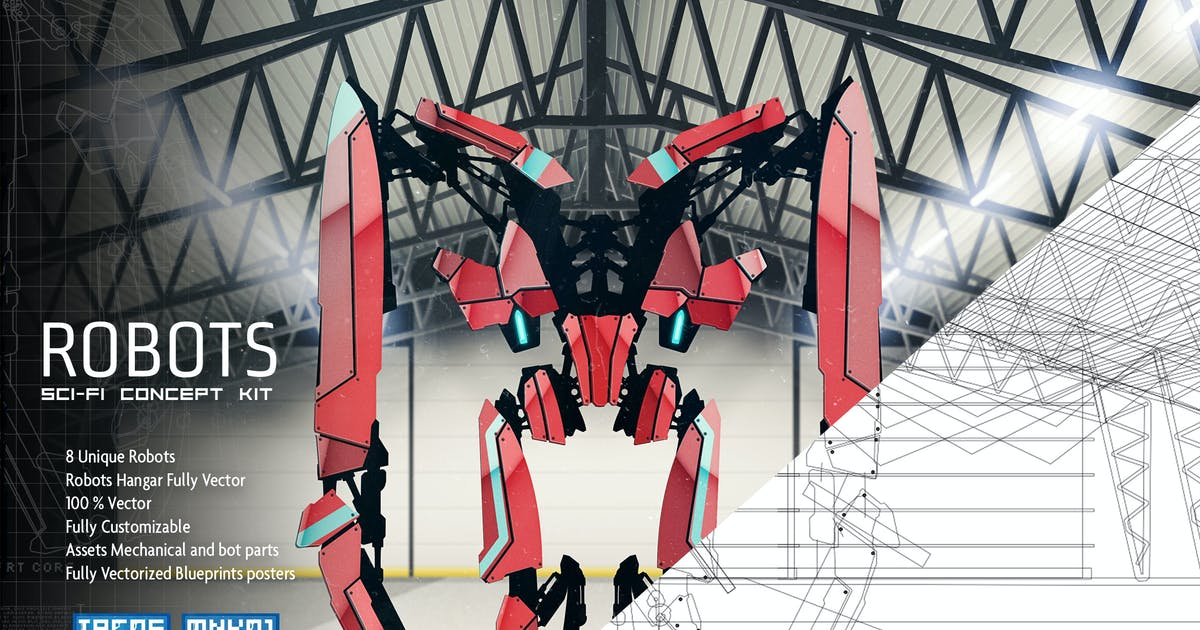 Download Robots Sci Fi Concept Kit by pixelbudah