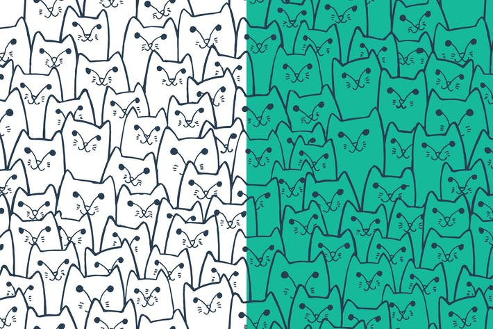 Thumbnail for Sly cats pattern