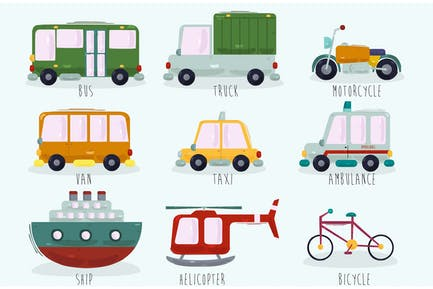 Karikatur-Transport