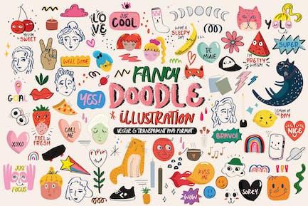 Fancy Doodle Illustration