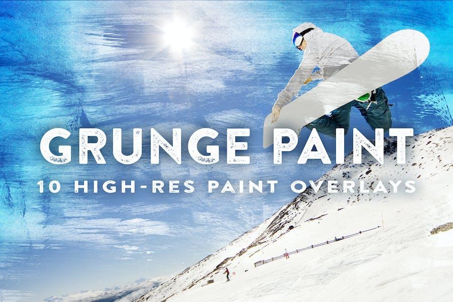 10 Grunge Paint Overlays