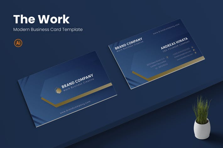 Thumbnail for Work Business Card