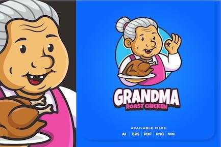 Grandma Roast Chicken Logo Design