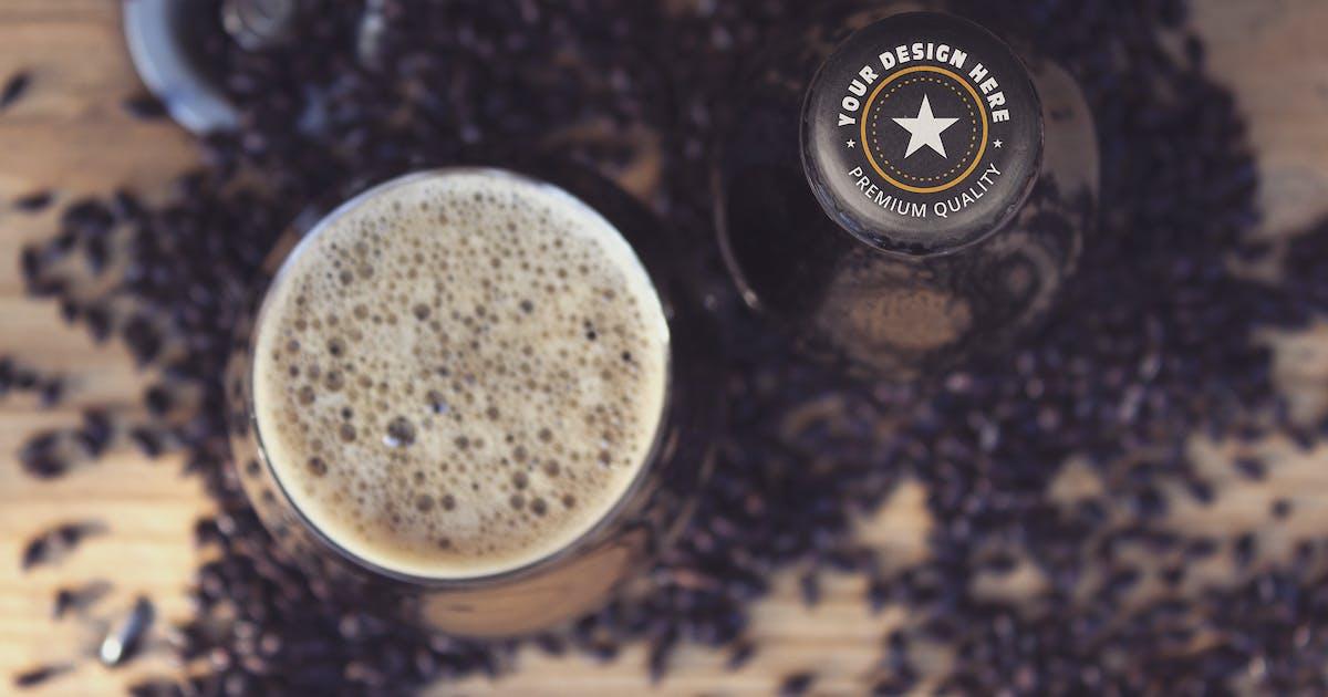 Download Beer Cap & Cup Mockup by SmartDesigns_eu