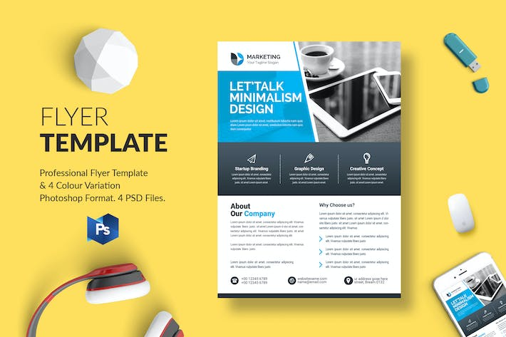 Thumbnail for Business Flyer Template 33