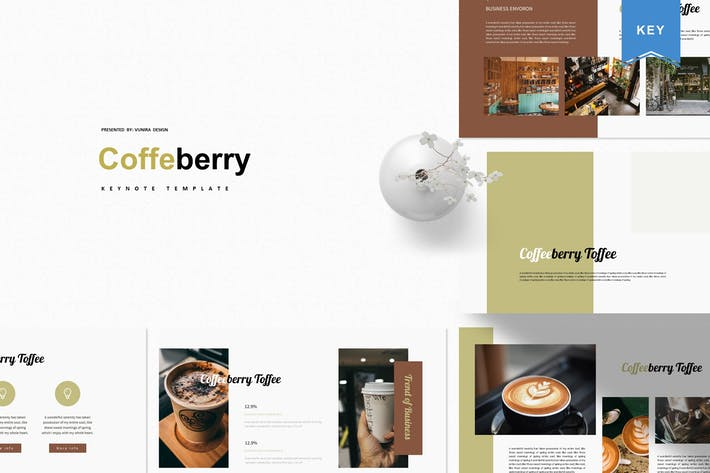 Thumbnail for Coffeberry   Шаблон Keynote