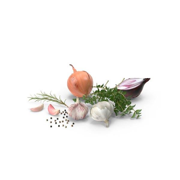 Ingredientes frescos para cocinar