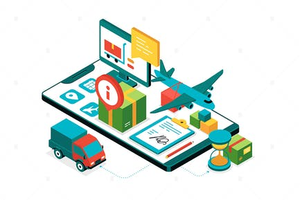 Special Delivery - Isometric Illustration