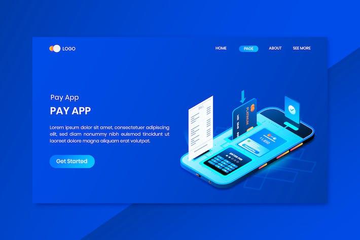 Thumbnail for Mobile Banking ZahlungsApp Isometrisches Konzept