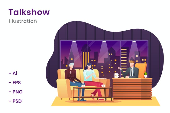 Talkshow Illustration