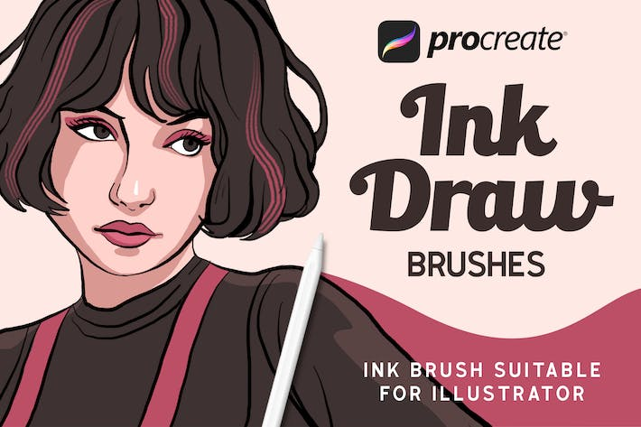 Thumbnail for InkDraw - Procrate Brushes