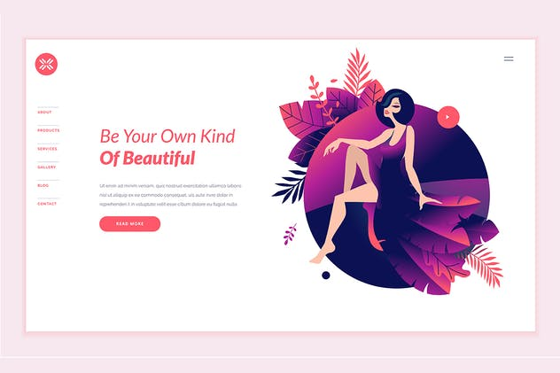 Beauty Web Page Design Template - product preview 0