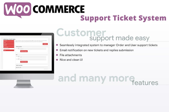 Thumbnail for WooCommerce Support Ticket System