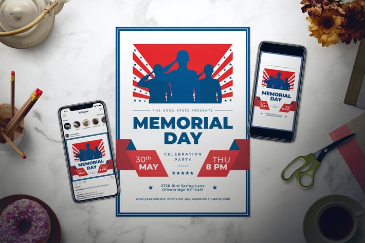Thumbnail for Memorial Day Flyer Set