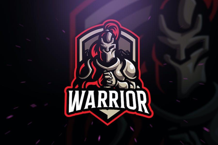 Warrior sport and Esport Logo Template
