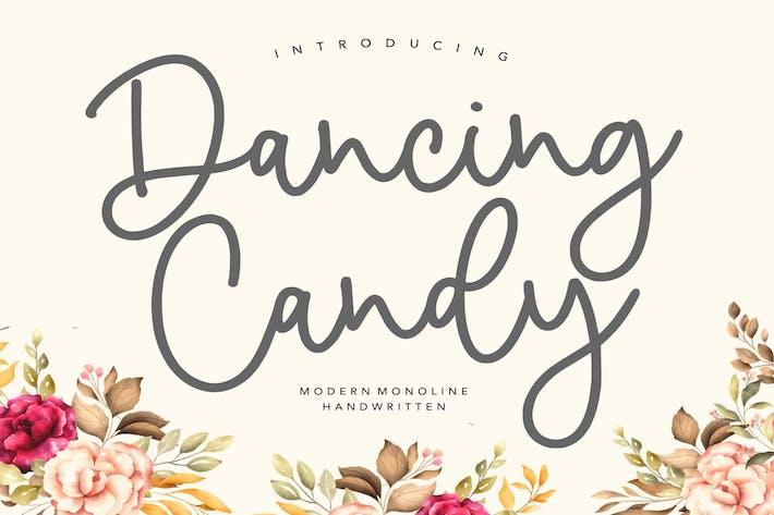 Thumbnail for Dancing Candy YH - Fuente de escritura moderna