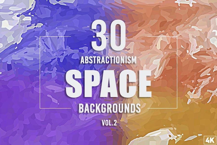 30 Abstraktionismus-Weltraum-Hintergründe - Band 2