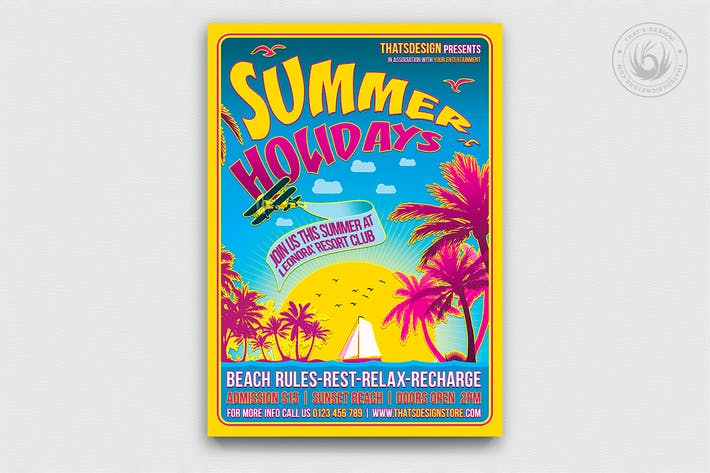 Thumbnail for Summer Holidays Flyer Template V2