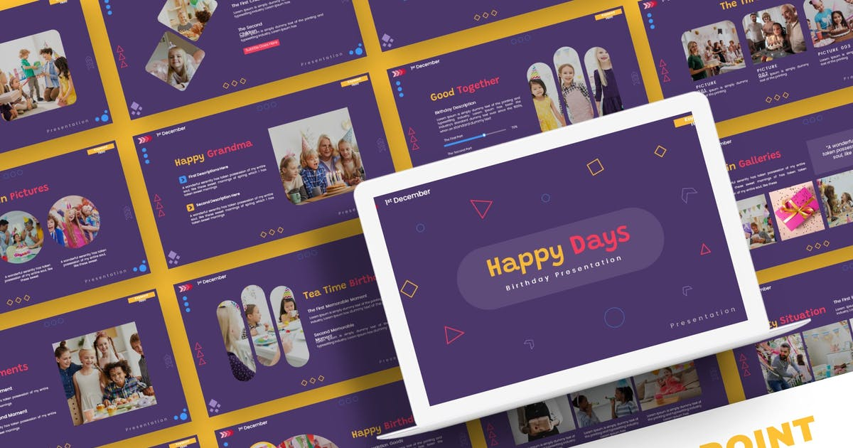 Download Happy Days - Powerpoint Template by karkunstudio