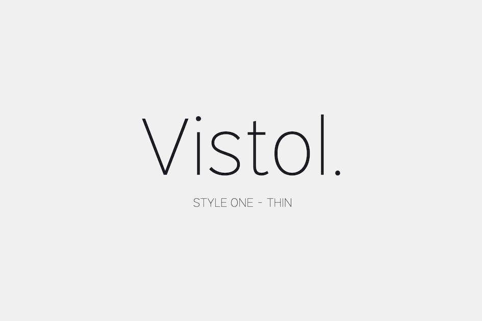 Download Vistol Sans Thin Latin Pro by Siwox