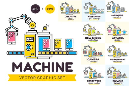 Machine with objects