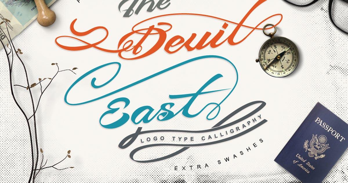 Download Devil East - Script Font by Voltury