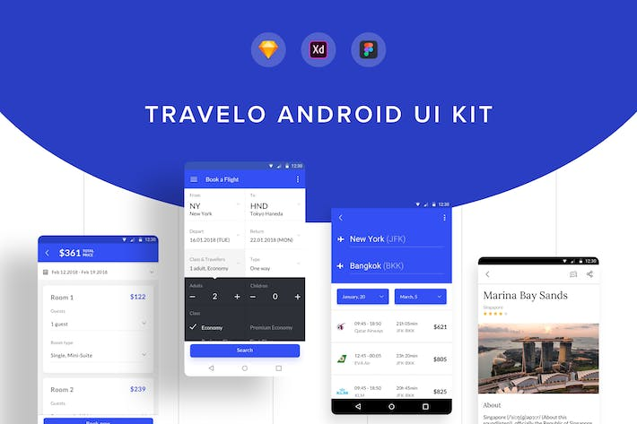 Thumbnail for Travelo Android UI Kit