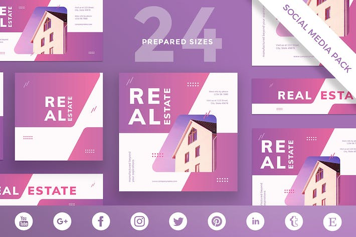 Real Estate Agency Social Media Pack Template
