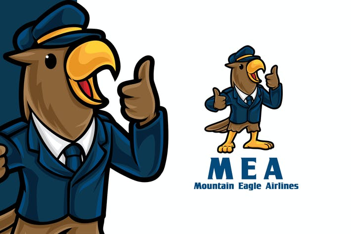Eagle Airlines Logo Mascot Template