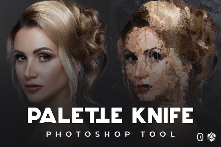 Palette Knife Photoshop Tool