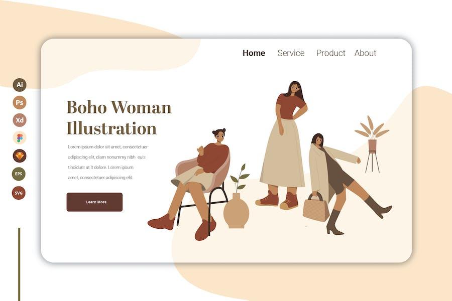Boho Woman Vol 9 - Landing Page Template