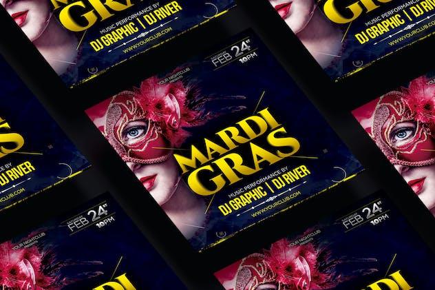 Mardi Gras Square Flyer & Instagram Post