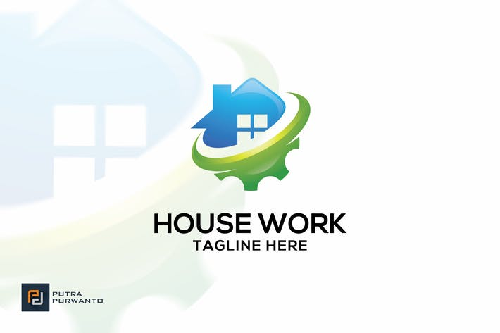 Thumbnail for House Work - Logo Template