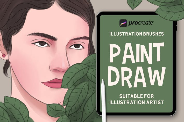 Thumbnail for Paint Draw - Procreat Brushes