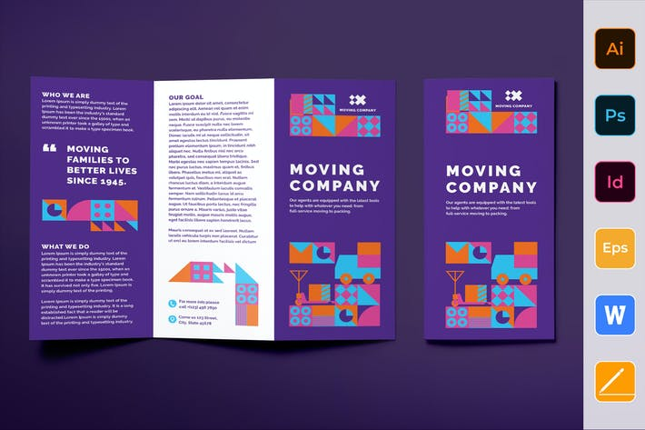 Thumbnail for Moving Company Brochure Trifold
