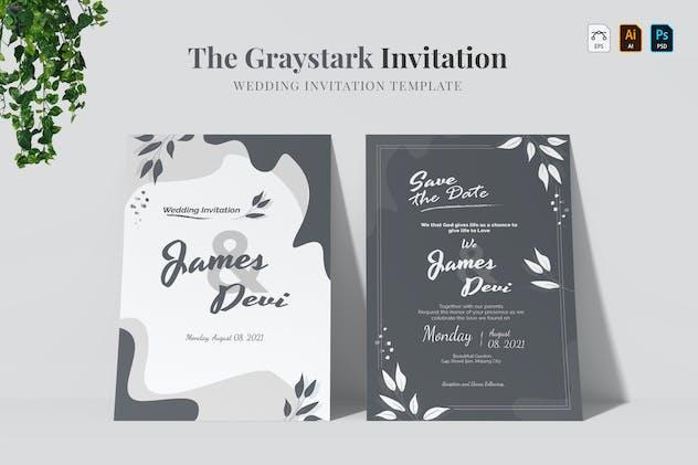 Graystark | Wedding Invitation