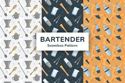 Bartender Seamless Pattern