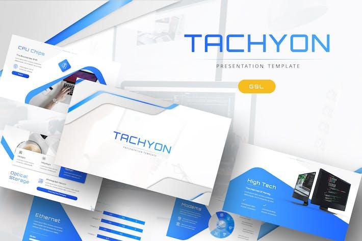 Thumbnail for Tachyon - IT-Unternehmen Google PräsentationsVorlage