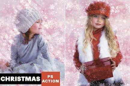 Merriness - Winter Artwork Photoshop Action
