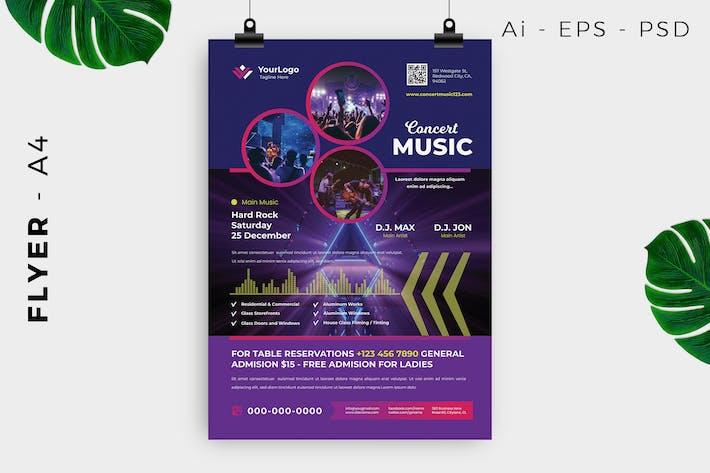 Thumbnail for Design de dépliant concert de musique