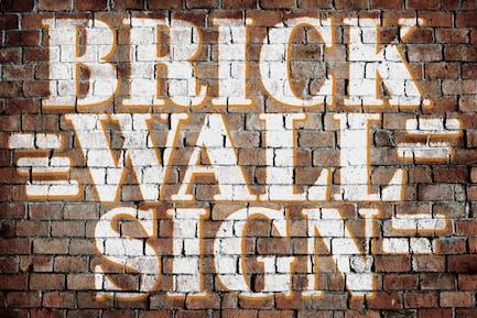 Realistic Brick Wall Signs