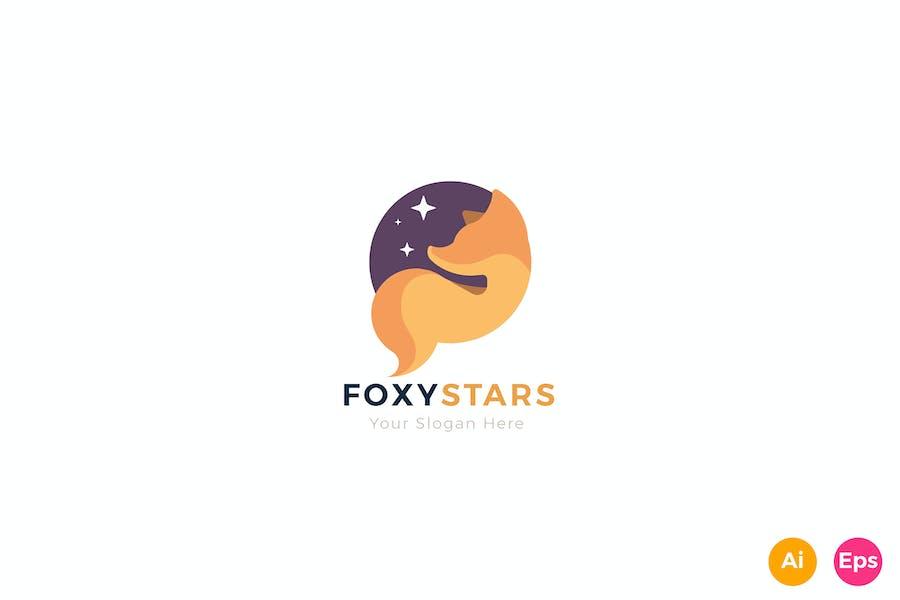 Fox Stars Creative Animal Logo Template