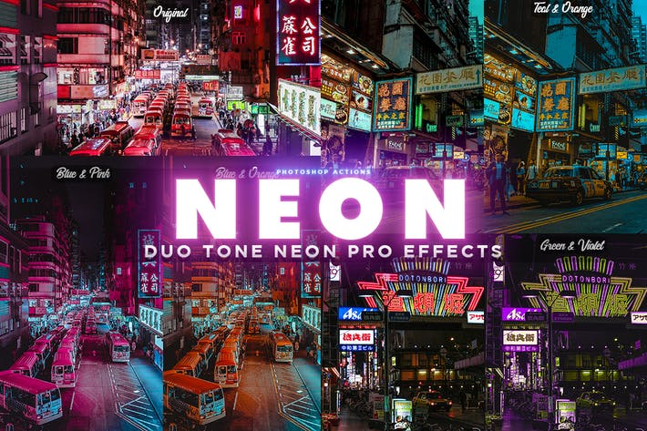 Thumbnail for NEON PRO Photoshop Actions