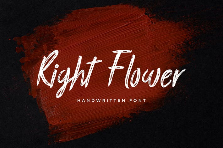 Thumbnail for Fuente manuscrita de pincel de flor derecha