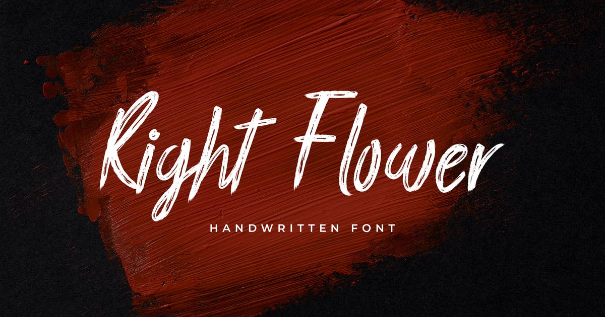 Download Right Flower Brush Handwritten Font by uicreativenet