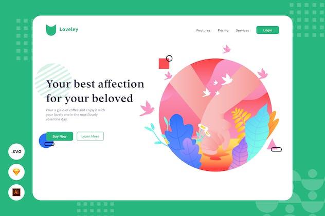 Affection - Website Header - Illustration