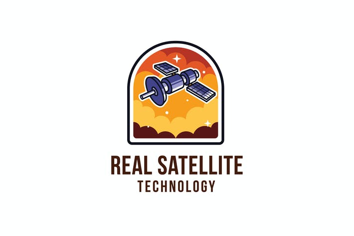 Cover Image For Real Satellite Technology Logo Template